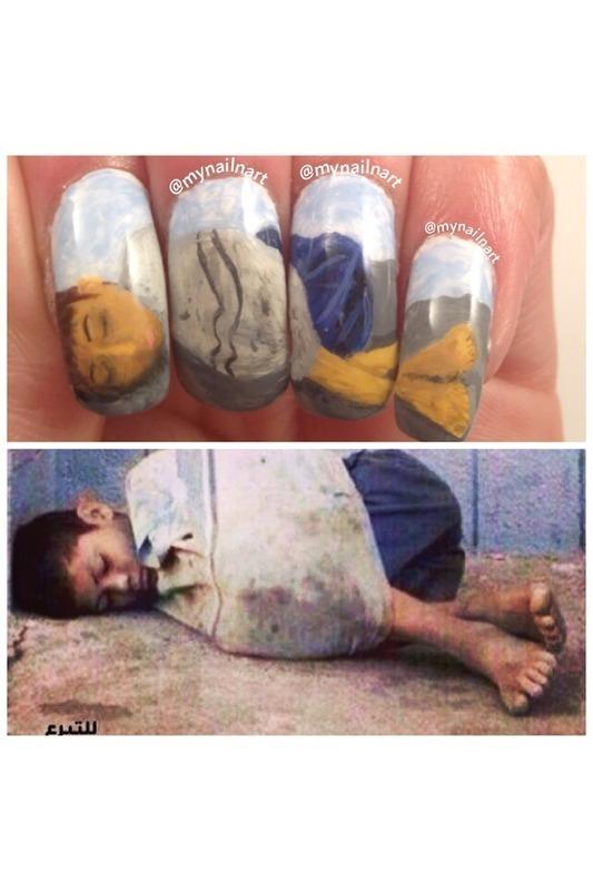 homeless child  nail art by mynailnart