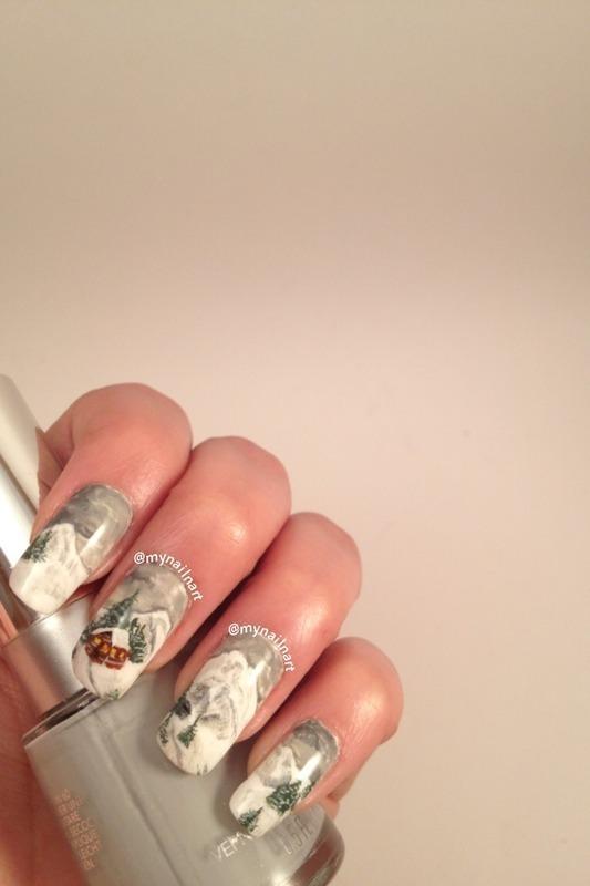 winter nails nail art by mynailnart