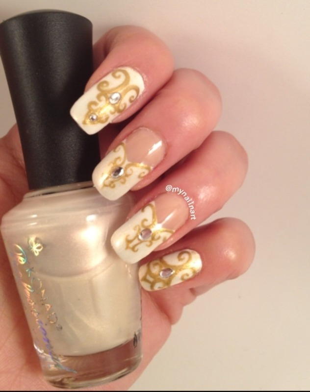 bridal nails nail art by mynailnart