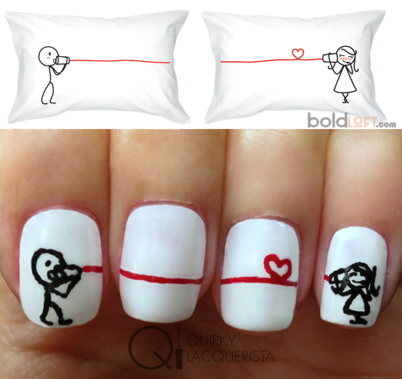 Say I Love You nail art by Kimmi - Nailpolis: Museum of Nail Art