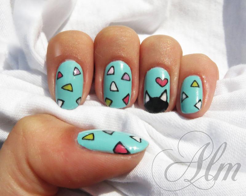 Triangular fun ❣ nail art by AliceLittleMadness