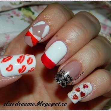 Pin up Girl nails nail art by Ela's Dreams