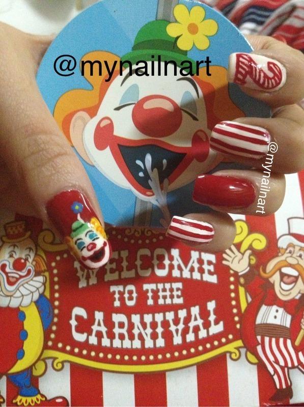 carnival nails nail art by mynailnart