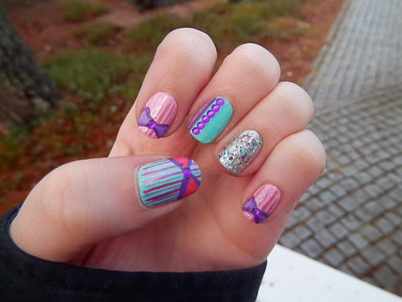 Pastel Colors nail art by Enni