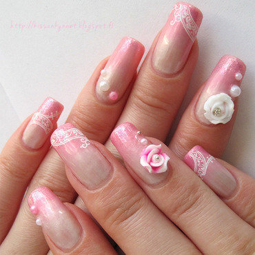 Princess nail art by Yue