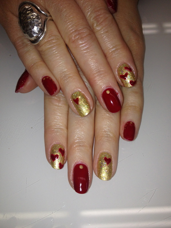 Will You Be My Valentine?  nail art by Laurelle Alexandra