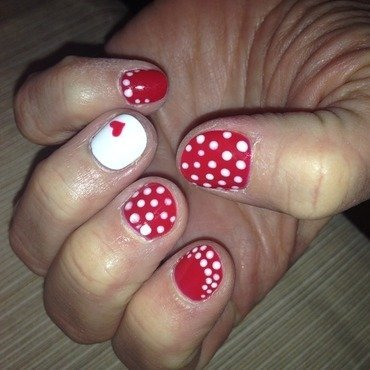 Fall in Love...With Polka Dots nail art by Laurelle Alexandra