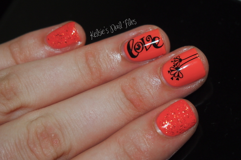 Create-a-little-love nail art by Kelsie