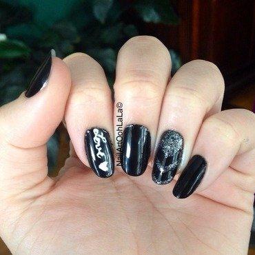 Love not war nail art by Susie