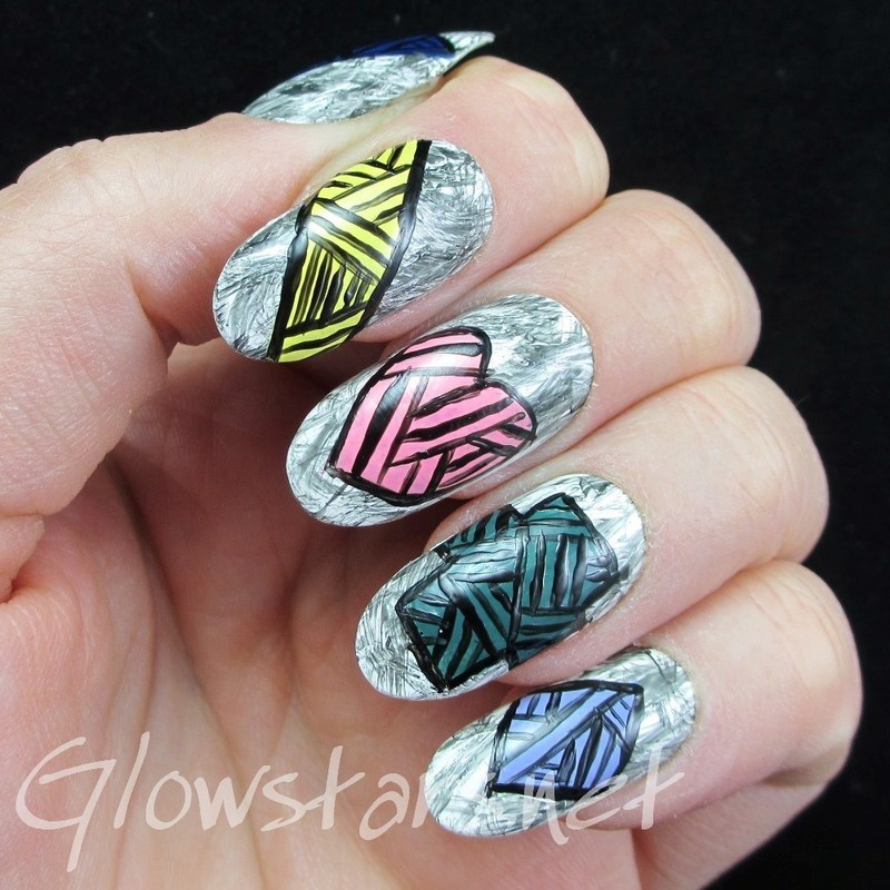 Nothing's true and nothing's right nail art by Vic 'Glowstars' Pires