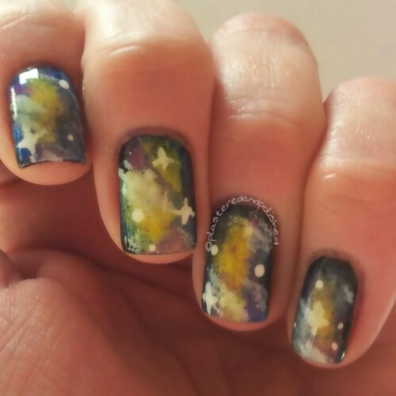 Galaxy Nails nail art by Anne-Marie Dyal