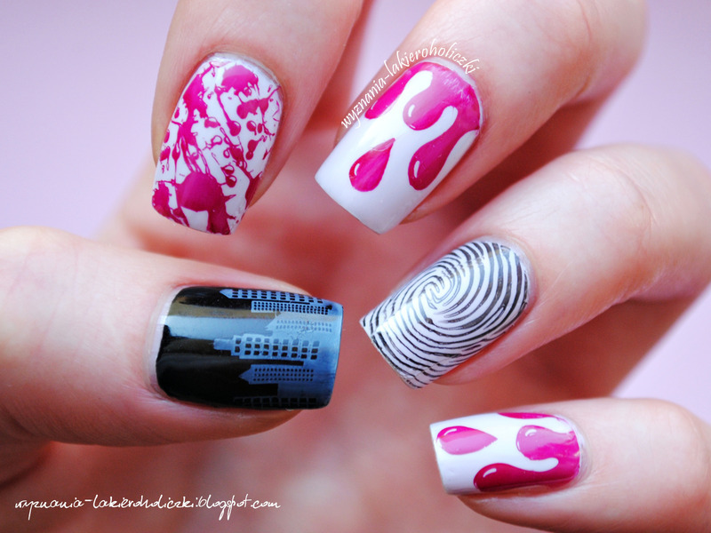 Criminal nails nail art by Olaa