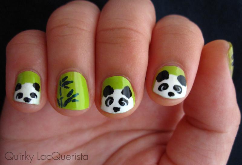 Panda nail art by Kimmi