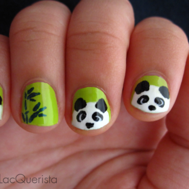 Panda nail art by Kimmi