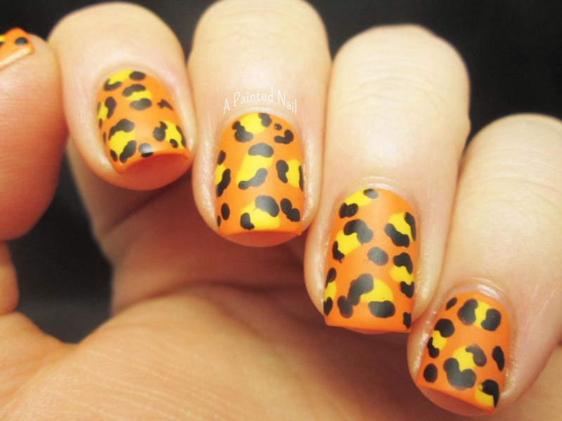 Mattefied Leopard Print nail art by Bridget Reynolds