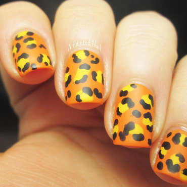 Mattefied Leopard Print nail art by Bridget Reynolds