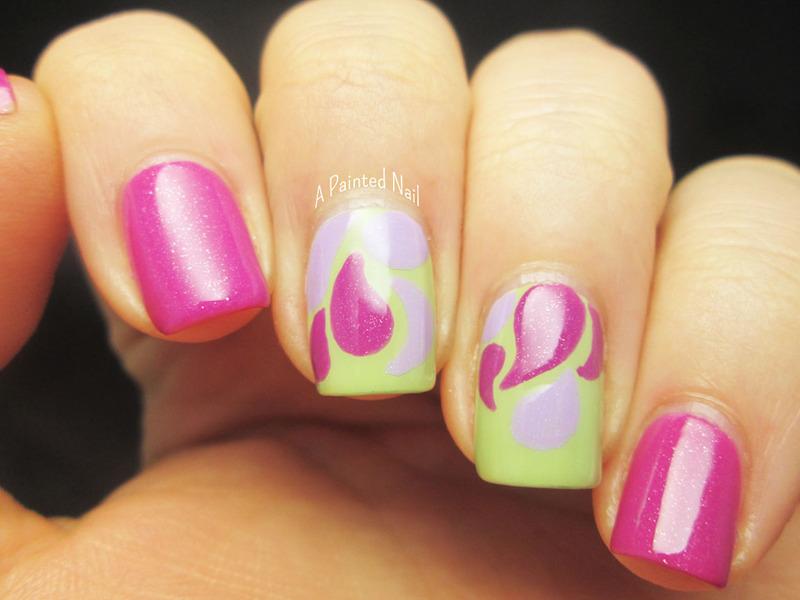 Freeform Paisleys nail art by Bridget Reynolds