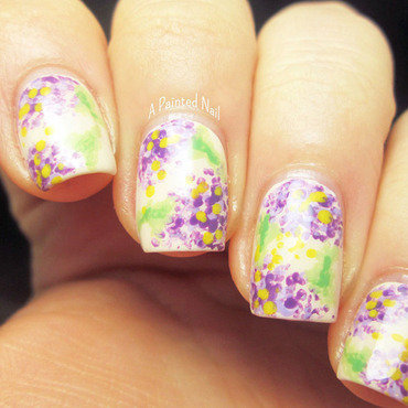 Messy Florals nail art by Bridget Reynolds