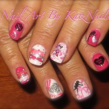Cupids Arrow nail art by Katz