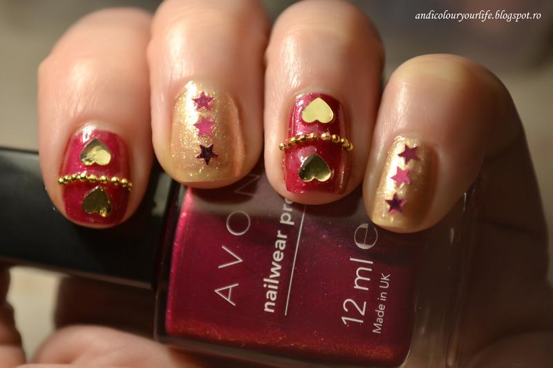 Valentines Day nails nail art by Andrea  Manases