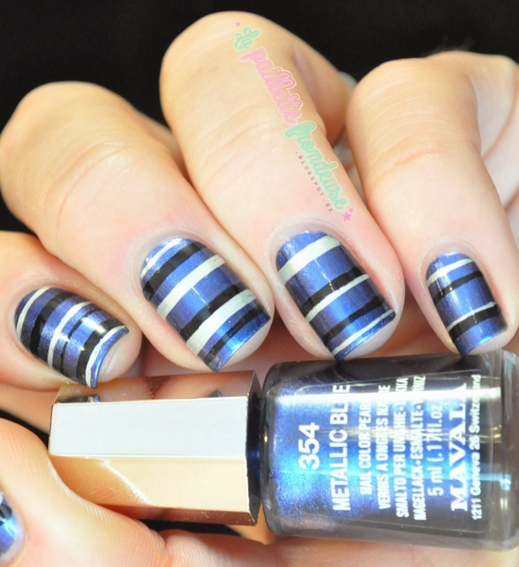 elegant stripes nail art by nathalie lapaillettefrondeuse
