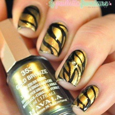 Mavala gold bronze nailart 5 thumb370f