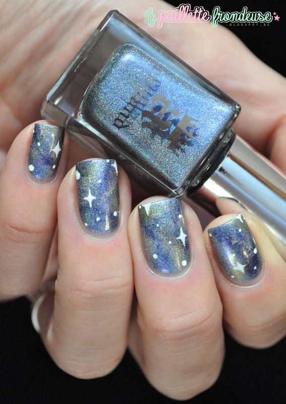 Nureyev galaxy nail art by nathalie lapaillettefrondeuse