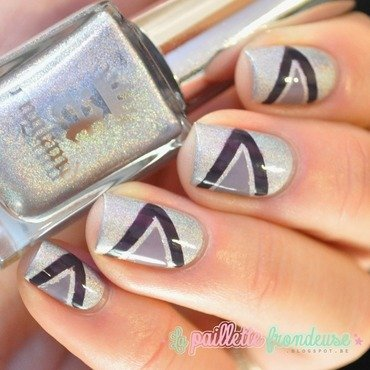 purple arrow nail art by nathalie lapaillettefrondeuse