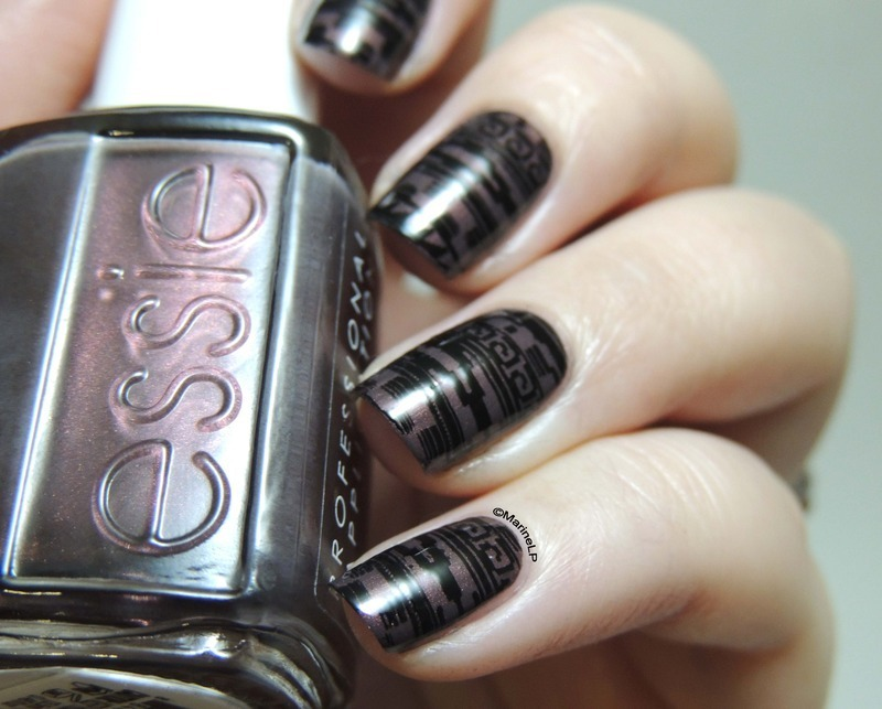 Aztec Print nail art by Marine Loves Polish
