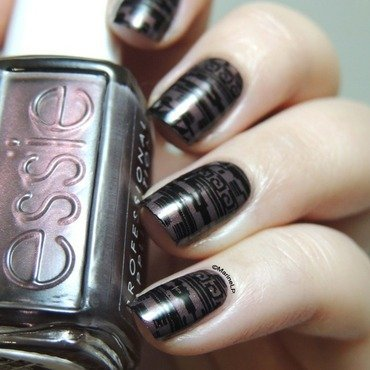 Aztec Print nail art by Marine Loves Polish