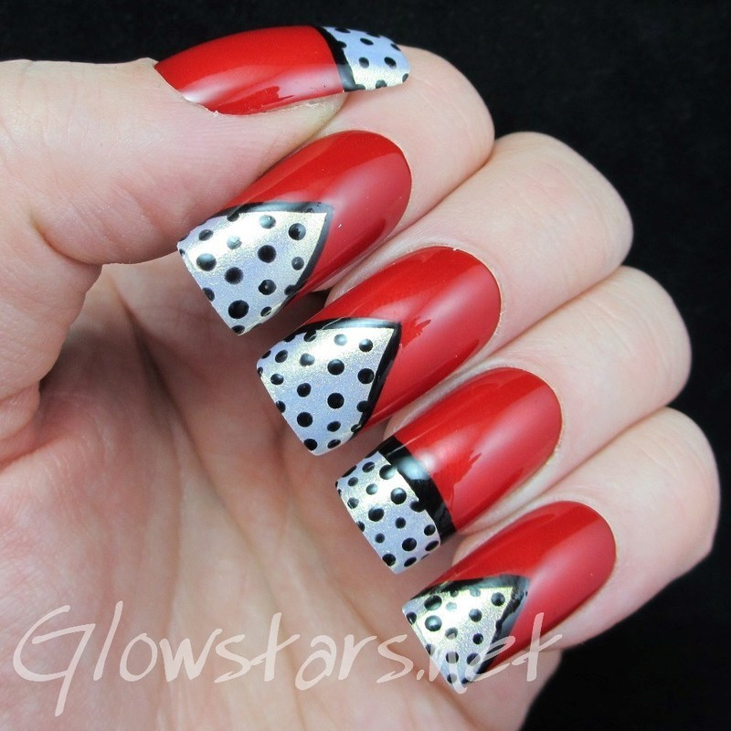 The Digit-al Dozen Does Vintage: Dots nail art by Vic 'Glowstars' Pires