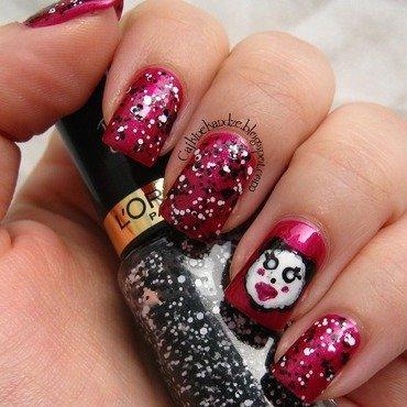 L'Oréal Miss Manga Manicure nail art by Vedrana Brankovic