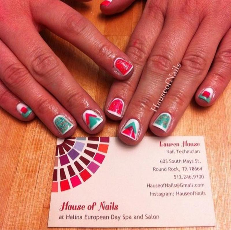 Shapes nail art by Hause of Nails