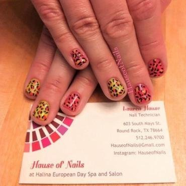 Cheetah nail art by Hause of Nails