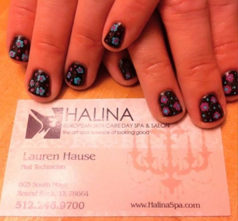 Little Flowers nail art by Hause of Nails