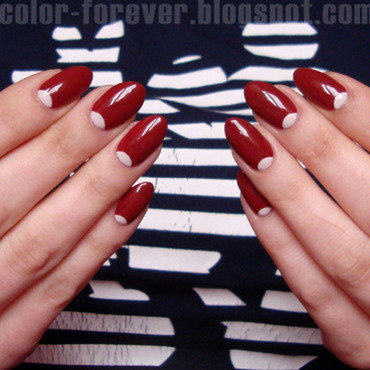 half moon manicure nail art by ania
