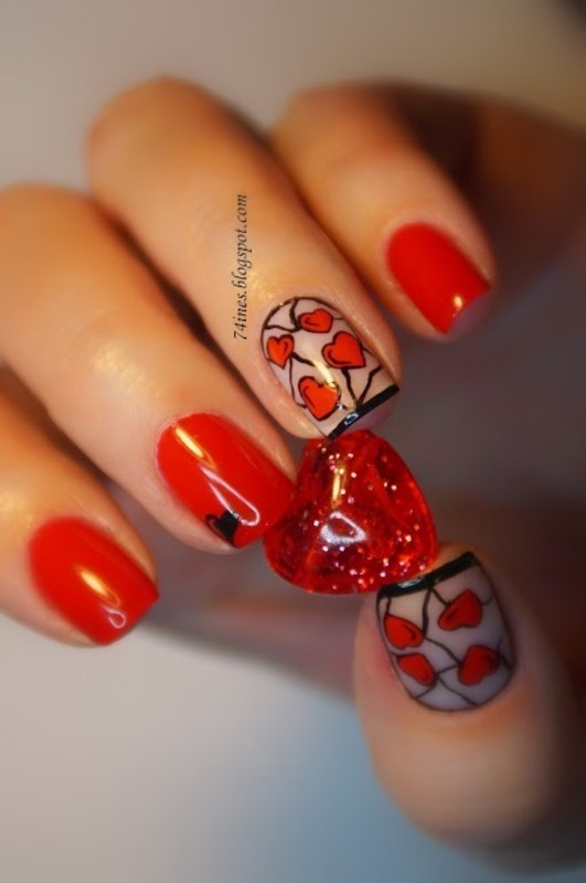 Lovesong nail art by 74ines