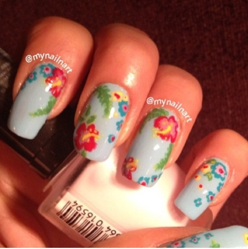 hawaiian nail art by mynailnart - Hawaiian Nail Art By Mynailnart - Nailpolis: Museum Of Nail Art