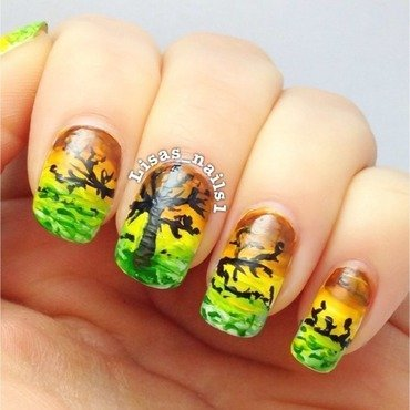 Australia  nail art by Lisa