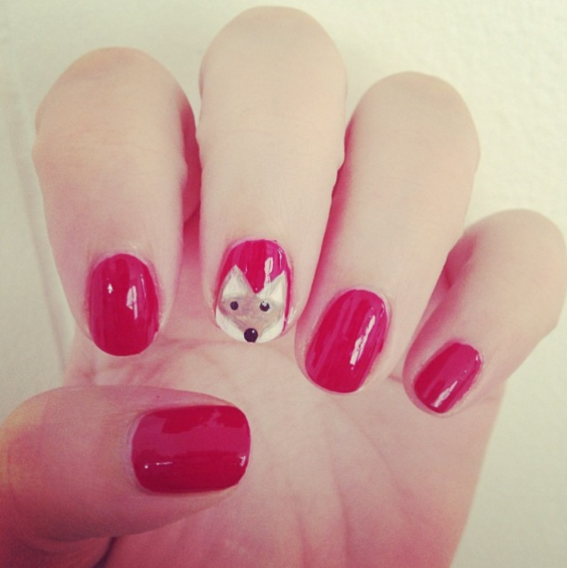 Red Fox Nails nail art by Claire