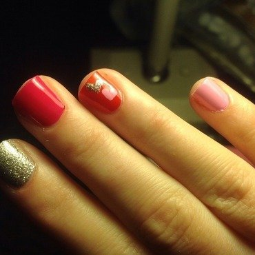Valentines Day  nail art by Cara