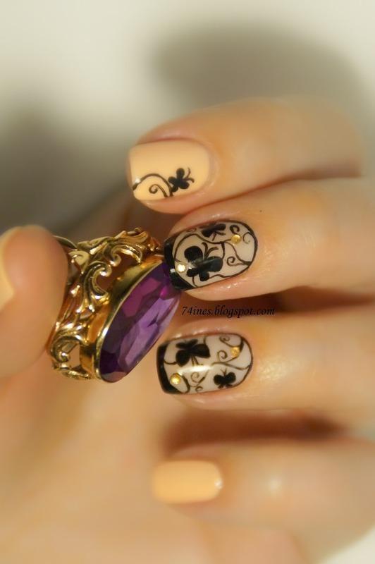 wonderland nail art by 74ines