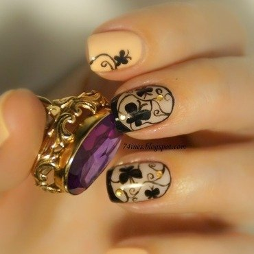 wonderland nail art by 74ines