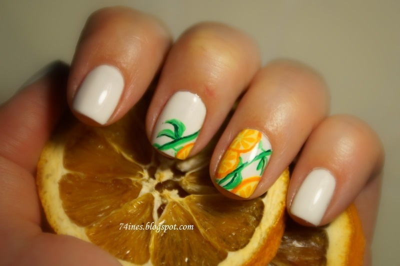 The smell of oranges nail art by 74ines