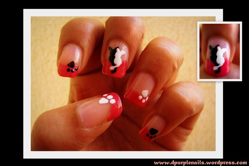 Cats in Love nail art by Deepika