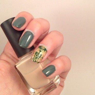 royal green nail art by mynailnart