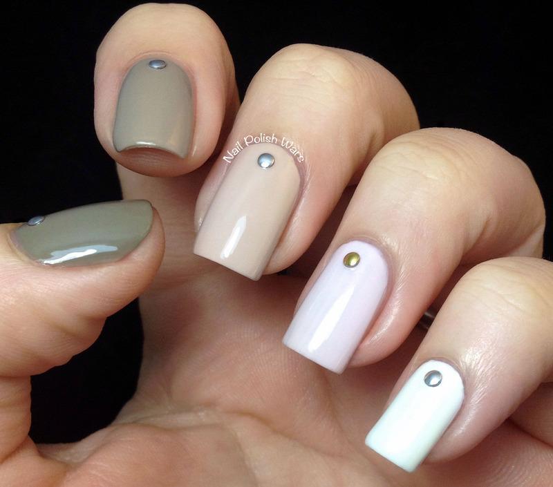 Studded Ombré nail art by Nail Polish Wars