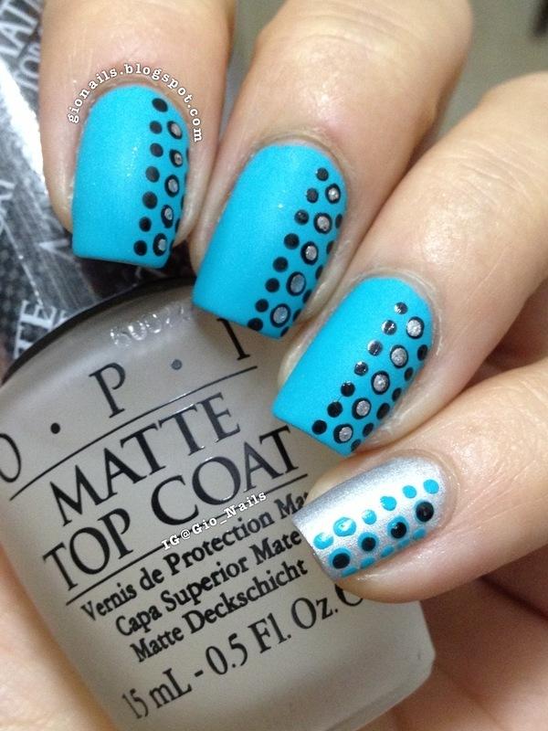 Hawaiian Dots nail art by Giovanna - GioNails