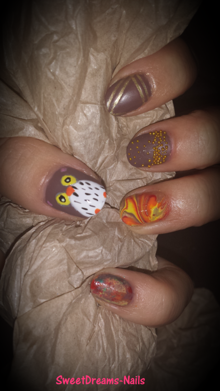Autumn Nails nail art by SweetDreamsNails