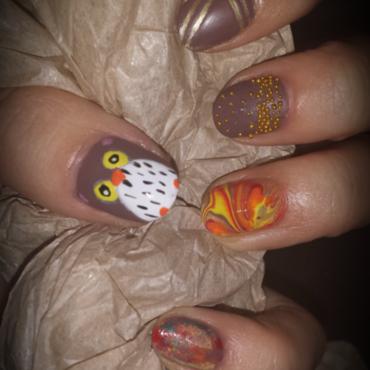 Autumn Nails nail art by SweetDreamsNails